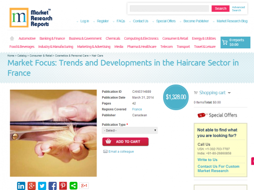 Haircare Sector in France'