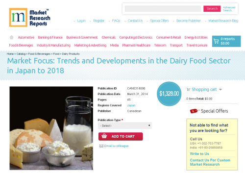 Dairy Food Sector in Japan to 2018'