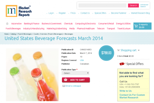 United States Beverage Forecasts March 2014'