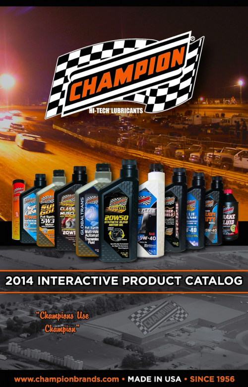 NEW - Champion Oil 2014 Interactive Catalog'