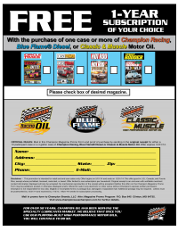 Champion Racing Oil Launches Promotion Featuring CIRCLE TRAC