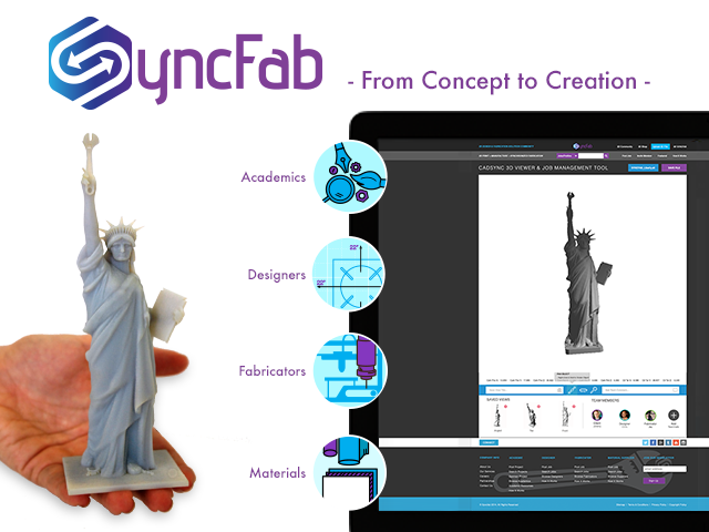 SyncFab Hybrid 3D Print and Design Community Platform