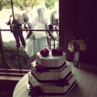 Northampton Valley Country Club Window View With A Cake!
