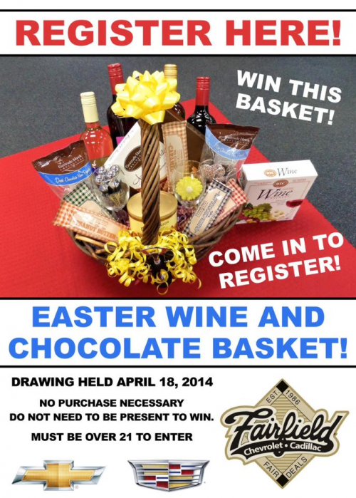 Fairfield Chevrolet Cadillac Easter Basket Giveaway 2014'