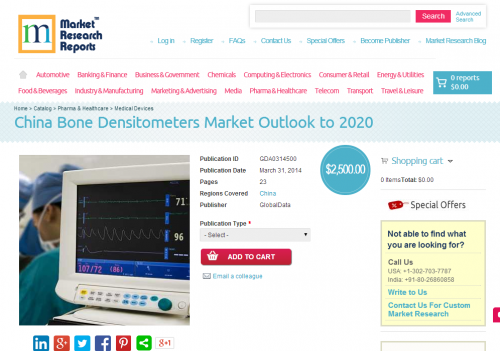 China Bone Densitometers Market Outlook to 2020'