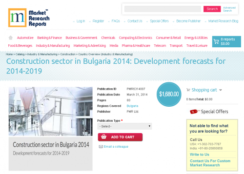 Construction sector in Bulgaria 2014'