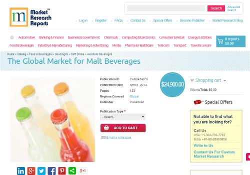 The Global Market for Malt Beverages'
