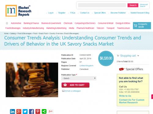 United Kingdom Savory Snacks Market- Consumer Trends'