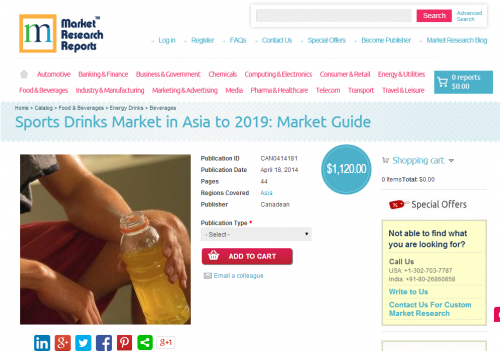 Sports Drinks Market in Asia to 2019 - Market Guide'
