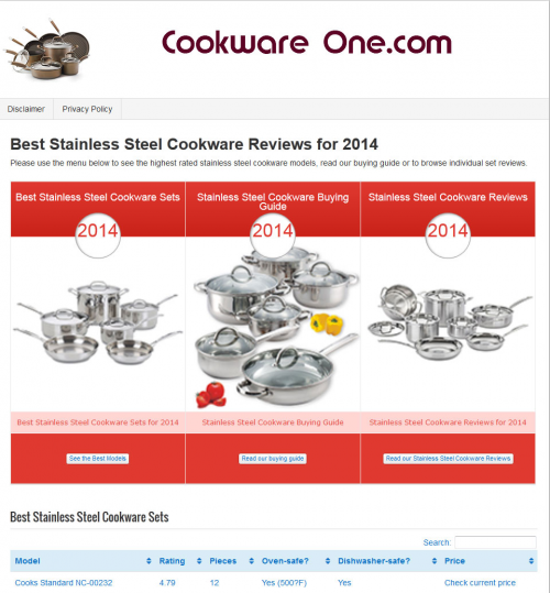 cookware one'