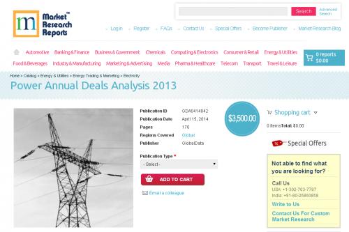 Power Annual Deals Analysis 2013'