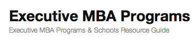 Executive MBA Programs'
