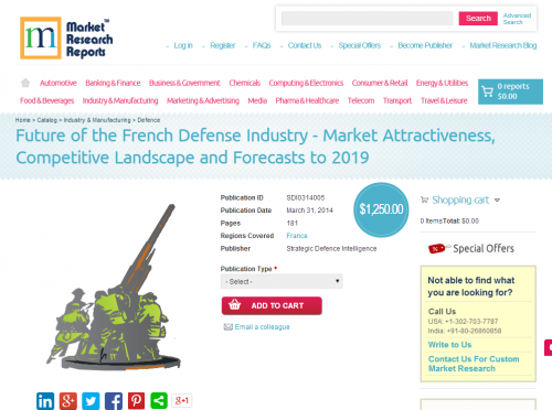 Future of the French Defense Industry Forecasts to 2019'