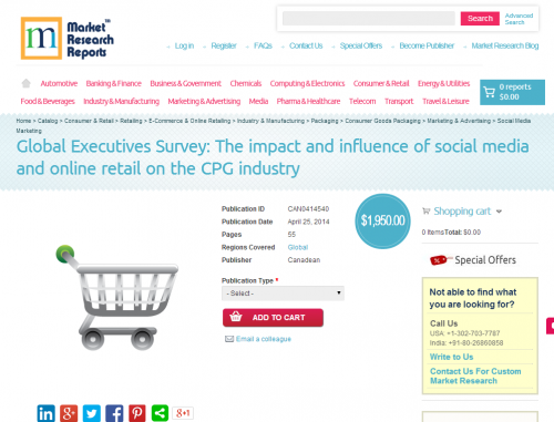 Global Executives Survey: Consumer Packaged Goods industry'