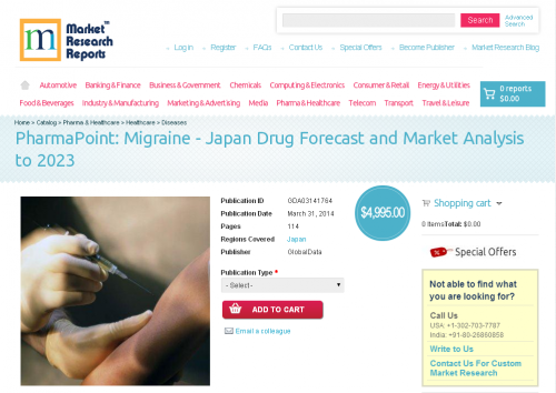 Migraine: Japan Drug Forecast and Market Analysis to 2023'