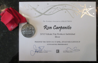 Ron Carpenito - Volume Top Producer Award