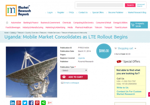 Uganda - Mobile Market Consolidates as LTE Rollout Begins'