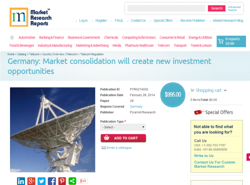 Germany - Market consolidation will create new investment'