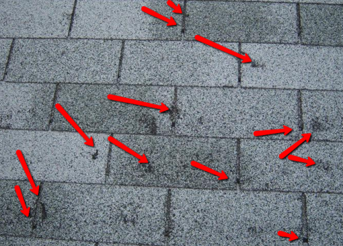 Hail Damage to Roofs'