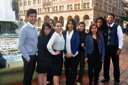 Students visit the University of Southern California'