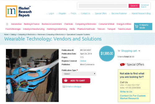 Wearable Technology - Vendors and Solutions'