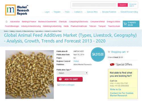 Global Animal Feed Additives Market 2013 - 2020'