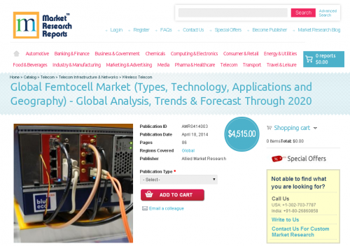 Global Femtocell Market- Types, Technology, Applications'