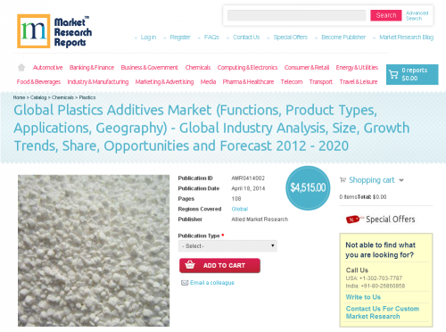 Global Plastics Additives Market 2012 - 2020'