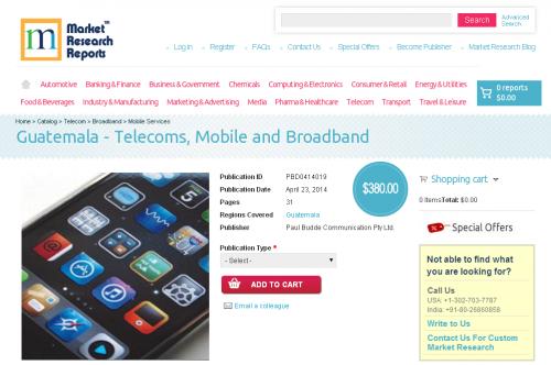 Guatemala - Telecoms, Mobile and Broadband'