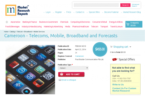 Cameroon - Telecoms, Mobile, Broadband and Forecasts'