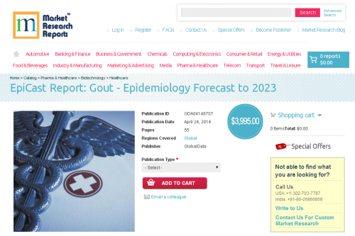 Gout - Epidemiology Forecast to 2023'