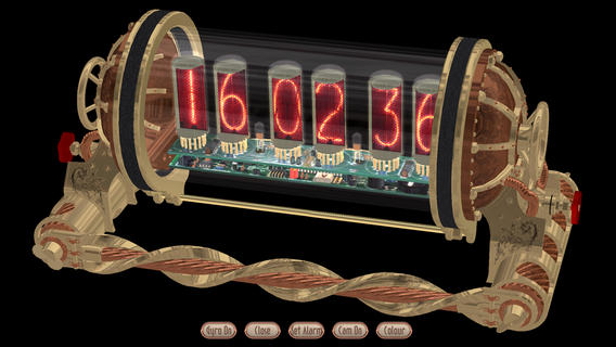 Steampunk Nixie Clock App