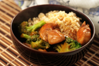 Sesame Chicken with Brocolli