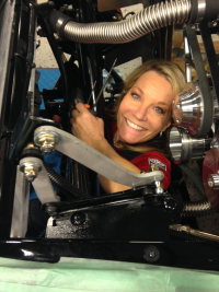 Jo Coddington during the Factory Five Racing build
