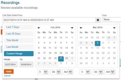 Recordings'