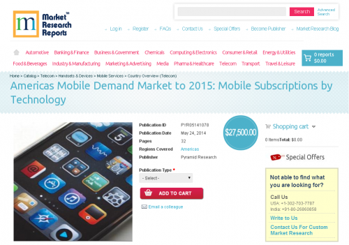 Americas Mobile Demand Market to 2015'