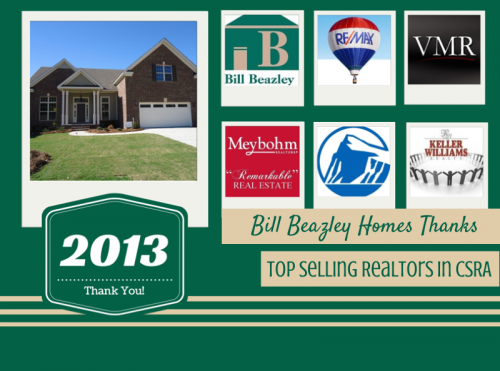 Bill Beazley Homes Thanks Top Selling Realtors in CSRA'