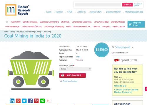 Coal Mining in India to 2020'