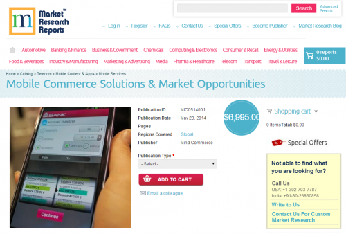 Mobile Commerce Solutions and Market Opportunities'