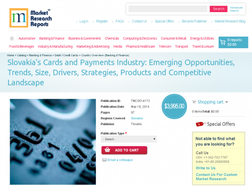Slovakia Cards and Payments Industry'