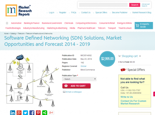 SDN Solutions, Market Opportunities and Forecast 2014 - 2019'