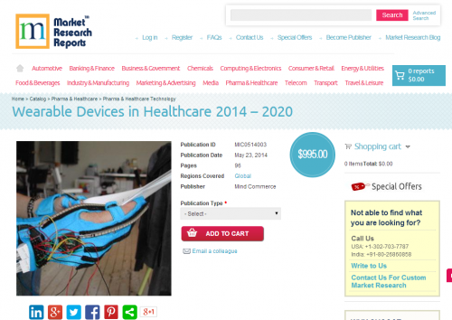 Wearable Devices in Healthcare 2014 - 2020'