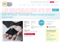 Inside 3D Printing - Technologies, Market Forecast