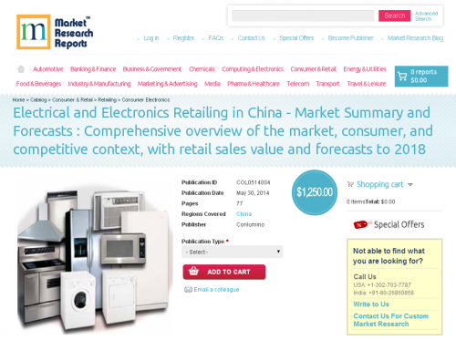 Electrical and Electronics Retailing in China Market Summary'