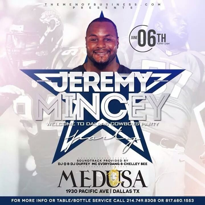 Jeremy Mincey Party Flyer