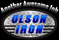 "Olson Iron ""Custom Wrought Iron Showroom"" Logo"