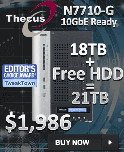 SimplyNAS Launches 10GbE Thecus N7710-G with 21TB and a Free
