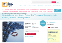 Pharma Manufacturing and Supply Partnering Terms