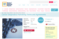 Cancer Diagnostics Partnering Terms and Agreements