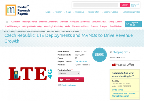 Czech Republic LTE Deployments and MVNOs to Drive Revenue'